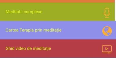 Aplicatia Terapia prin meditatie